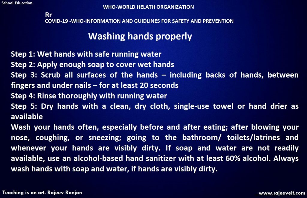how to wash hand- coronavriuses-who-rajeev ranjan